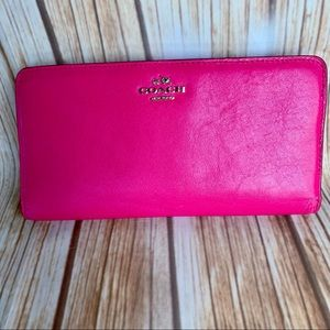 Coach Leather Wallet Madison Skinny Smooth Leather